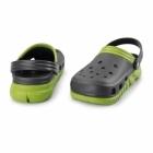 Crocs DUET MAX CLOG Mens Croslite Clogs Graphite/Volt Green