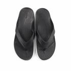 Crocs CITILANE FLIP Unisex Toe Post Flip Flops Black/White