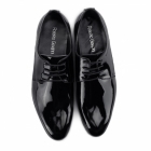 Roberto Giovanni TREVOR Mens Patent Leather Derby Shoes Black - ACCC