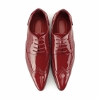 Rossellini ROBERTO Mens Pointed Patent Shoes Red