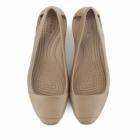 Crocs SIENNA FLAT Ladies Ballerina Flat Shoes Bronze