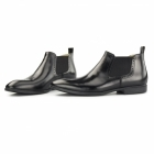 Steptronic FREEDOM Mens Waxed Leather Chelsea Boots Black