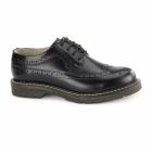 Grinders BERTRUM Unisex Polished Leather Brogues Black