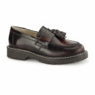 Grinders CUTHBERT Unisex Polished Leather MOD Loafers Burgundy