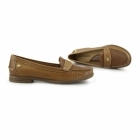 Hush Puppies IRIS SLOAN Ladies Leather Loafer Shoes Tan