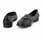 Hush Puppies IRIS SLOAN Ladies Leather Loafer Shoes Black