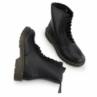 Grinders CEDRIC Unisex Leather Derby Boots Black