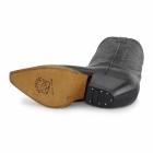 Grinders BUFFALO Unisex Leather Cuban Heel Cowboy Boots Black