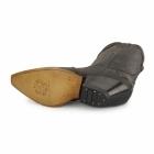 Grinders ARIZONA HI Unisex Leather Cuban Heel Cowboy Boots Brown