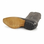 Grinders LOUISIANA Mens Leather Cuban Heel Cowboy Boots Brown