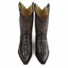 Grinders CAROLINA Mens Croc Leather Cuban Heel Cowboy Boots Brown