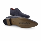 Rossellini AZZURRA Mens Faux Suede Pointed Shoes Blue