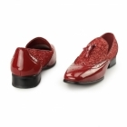 Rossellini ANTONIO Mens Patent Tassle Loafer Brogues Red