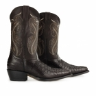 Grinders INDIANA Ladies Croc Leather Cuban Heel Cowboy Boots Brown