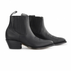 Grinders MAVERICK Unisex Leather Cuban Heel Chelsea Boots Black