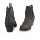 Grinders MAVERICK Unisex Leather Cuban Heel Chelsea Boots Brown