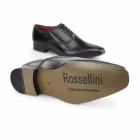 Rossellini MIRANO Mens Faux Leather Smart Shoes Black