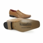 Rossellini LEONARD Mens Faux Leather Loafers Brown