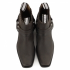 Grinders HARNESS LO Unisex Leather Harness Chelsea Boots Brown