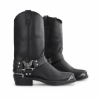 Grinders EAGLE HI Mens Leather Harness Biker Boots Black