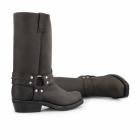 Grinders RENEGADE HI Unisex Leather Harness Biker Boots Brown