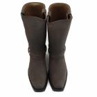 Grinders HARNESS HI Unisex Leather Harness Biker Boots Brown