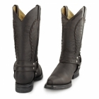 Grinders GALVESTON Mens Leather Cowboy Boots Brown