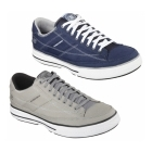 Skechers ARCADE CHAT MEMORY Mens Canvas Lace Up Shoes Navy/White