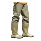 Dunlop PROTOM 142VP PP Mens S5 Safety Thigh Waders Green