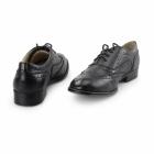 Boulevard EVA Ladies Flat Brogue Shoes Black
