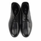 Roamers JACKSON Mens Leather Desert Boots Black