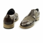 Carvelos CATANIA Mens Leather Tweed Brogues Brown/Brown
