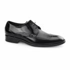 Carvelos SANTIAGO Mens Leather Derby Semi-Brogues Black