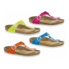 Birkenstock GIZEH Ladies Toe Post Sandals Neon Orange
