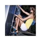 FitFlop™ AZTEK CHADA SLIDE™ Ladies Leather Mule Sandals Rose Gold