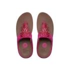 FitFlop™ CHA CHA™ Ladies Suede Toe Post Tassle Sandals Bubblegum