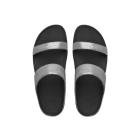 FitFlop™ LULU SHIMMERSUEDE SLIDE™ Ladies Suede Mule Sandals Pewter