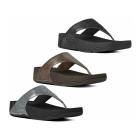FitFlop™ LULU SHIMMERSUEDE™ Ladies Suede Toe Post Sandals Black