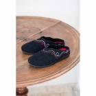 Padders ASPEN Ladies Felt Wide Fit Mule Slippers Navy