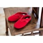 Padders ASPEN Ladies Felt Wide Fit Mule Slippers Red