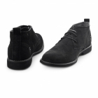 Front ROSCOE Mens Suede Desert Boots Black