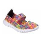 Divaz DRIFT Ladies Woven Mary Jane Shoes Multicoloured