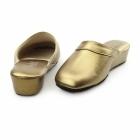 Chaleur FLORENCE Ladies Leather Mule Slippers Bronze