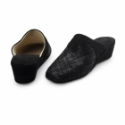 Chaleur CERVIA Ladies Suede Mule Slippers Black
