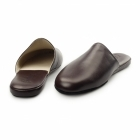Chaleur LUCA Mens Leather Mule Comfort Slippers Bordo