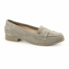 Hush Puppies CATHCART KNIGHTSBRIDGE Ladies Suede Loafers Grey