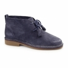 Hush Puppies CYRA CATELYN Ladies Suede Desert Boots Navy