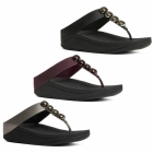 FitFlop™ ROLA™ Ladies Toe Post Jewel Sandals Hot Cherry