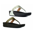 FitFlop™ AZTEK CHADA™ Ladies Leather Toe Post Sandals Chocolate