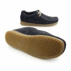 Base London GENESIS Mens Suede Leather Moccasin Shoes Navy